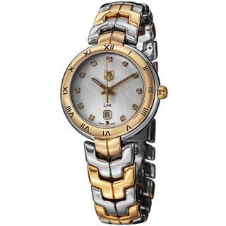 Tag Heuer Women's WAT1352.BB0962 'Link' Silver Dial Two Tone Swiss Quartz Watch