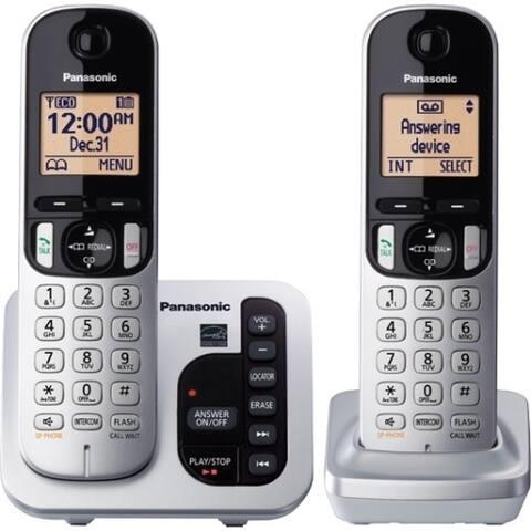 8677d882a Panasonic KX-TGC222S DECT 6.0 1.90 GHz Cordless Phone - Silver