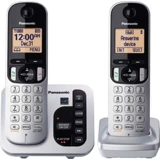Panasonic KX-TGC222S DECT 6.0 1.90 GHz Cordless Phone - Silver|https://ak1.ostkcdn.com/images/products/9205027/P16376115.jpg?impolicy=medium