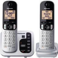 Panasonic KX-TGC222S DECT 6.0 1.90 GHz Cordless Phone - Silver