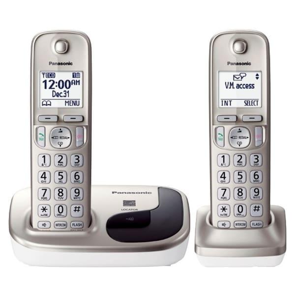 Panasonic KX-TGD212N DECT 6.0 1.90 GHz Cordless Phone - Champagne Gol