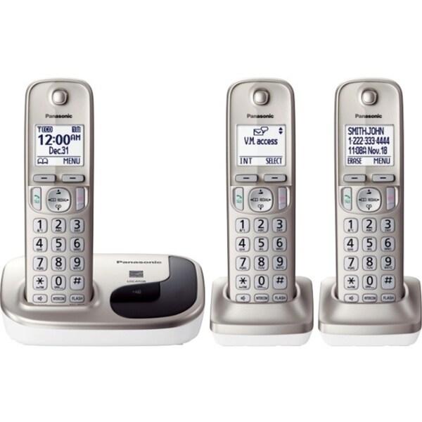 Panasonic KX-TGD213N DECT 6.0 Cordless Phone - Silver