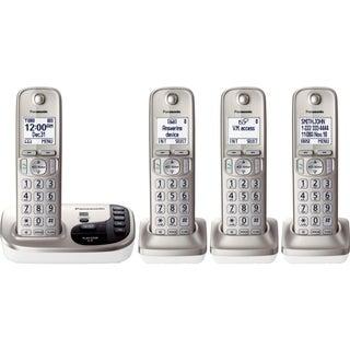 Panasonic KX-TGD224N DECT 6.0 1.90 GHz Cordless Phone - Champagne Gol