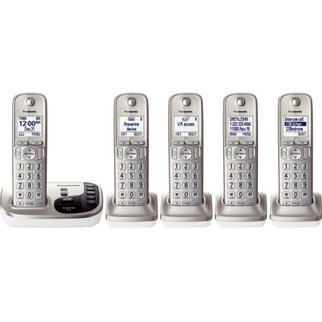 Panasonic KX-TGD225N Dect 6.0 Cordless Phone, Clear