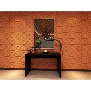 3D Wall Panels Plant Fiber Horseshoe Design (10 Panels Per Box) - Off White