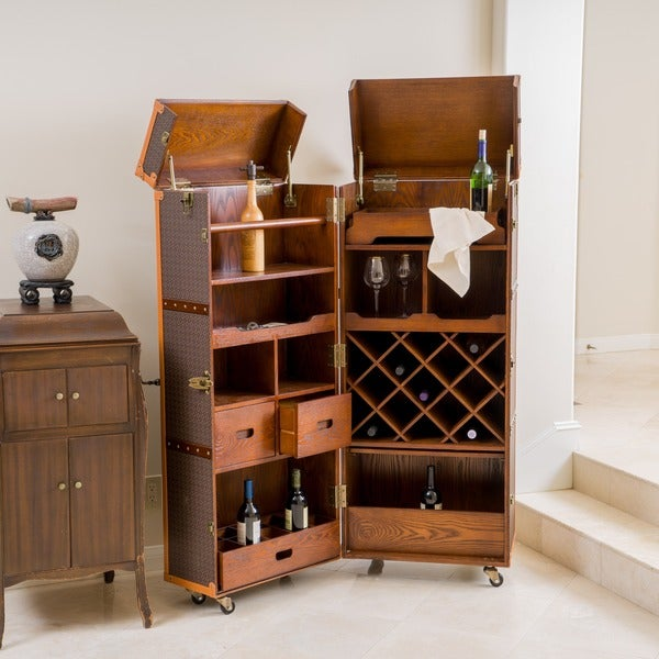 richfield rolling bar cabinet by christopher knight home free shipping today overstock. Black Bedroom Furniture Sets. Home Design Ideas