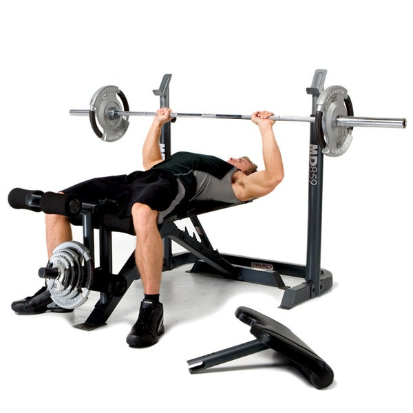 Marcy Two-piece Adjustable Mid-width Weight Bench - Free Shipping Today - Overstock.com - 16377268