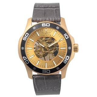 Invicta Men's 17262 Genuine Leather 'Specialty' Mechanical Skeleton Watch