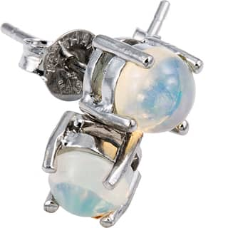 Glitzy Rocks Sterling Silver 6mm Round Fiery Created White Opal Stud Earrings|https://ak1.ostkcdn.com/images/products/9206328/P16377271.jpg?impolicy=medium