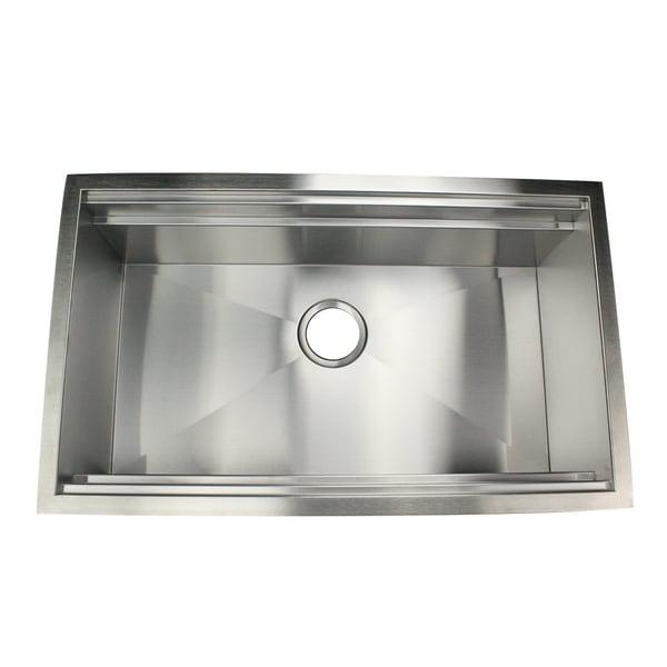 Highpoint 30 Zero Radius Undermount Stainless Steel Kitchen Sink W Colander Cutting Board Drain Free Shipping Today Overstock Com 16377504