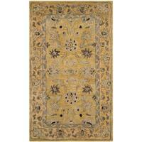 Safavieh Handmade Anatolia Oriental Golden Pear/ Smoke Hand-spun Wool Rug - 3' x 5'