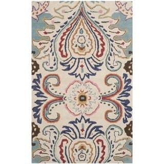 Safavieh Handmade Bella Ivory/ Blue Wool Rug (3' x 5')