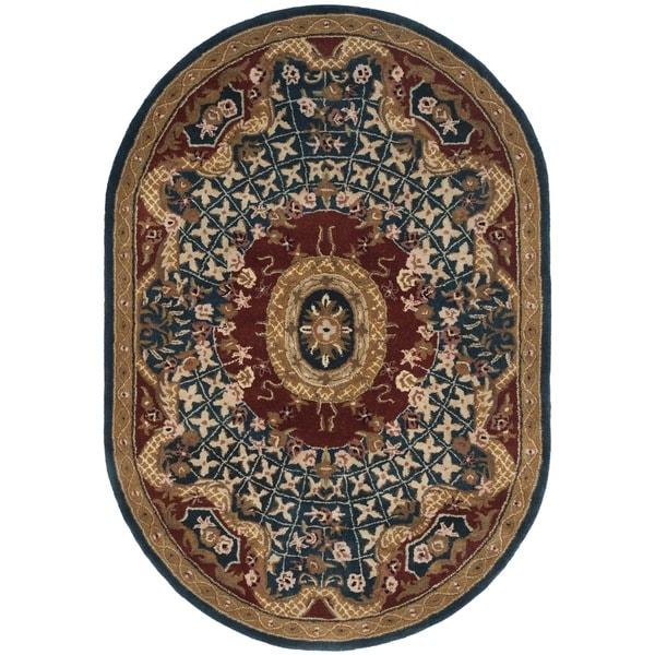 Shop Safavieh Handmade Classic Oval Multicolored Wool Rug