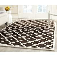 Safavieh Handmade Precious Charcoal Polyester/ Wool Rug (3' x 5')
