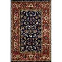 Safavieh Handmade Royalty Navy/ Rust Wool Rug - 6' x 9'