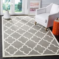 Safavieh Handmade Moroccan Cambridge Light Grey/ Ivory Wool Rug - 8' x 10'