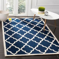 Safavieh Handmade Moroccan Cambridge Navy/ Ivory Wool Rug - 8' x 10'