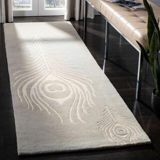 Safavieh Handmade Soho Grey/ Ivory New Zealand Wool/ Viscose Rug (2'6 x 8')