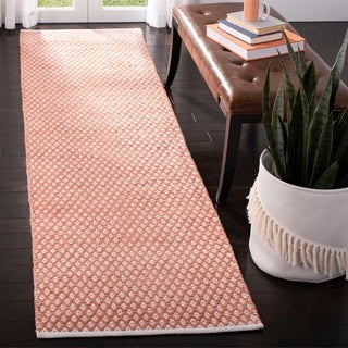 Safavieh Handmade Boston Orange Cotton Rug (2'3 x 9')