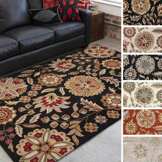 Hand-tufted Lily Pad Floral Wool Area Rug (12' x 15')