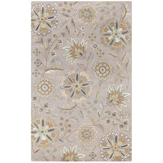 Hand-tufted Lily Pad Floral Wool Area Rug (10' x 14')