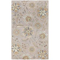 Hand-tufted Lily Pad Floral Wool Area Rug - 10 X 14