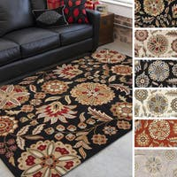 Hand-tufted Lily Pad Floral Wool Area Rug - 9' x 12'