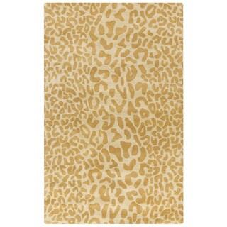 Hand-tufted Jungle Animal Print Wool Area Rug (9' x 12')