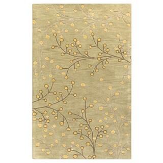 Hand-tufted Sakura Branch Floral Wool Area Rug (9' x 12')
