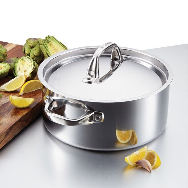Anolon Tri-Ply Clad Stainless Steel 5-quart Covered Dutch Oven