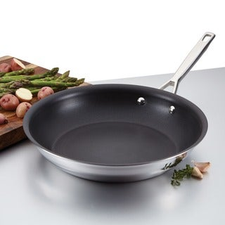 Anolon Tri-ply Clad Stainless Steel 10 1/4-inch Nonstick French Skillet