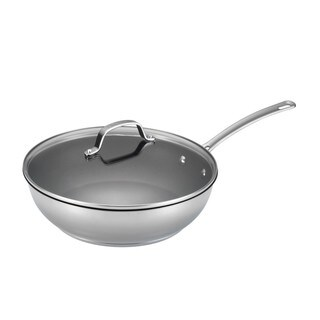 Circulon Genesis Stainless Steel Nonstick 12 1/2-inch Covered Deep Skillet