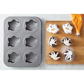 Cake Boss Novelty Bakeware Nonstick 6-cup Grey Ghost Cakelette Pan