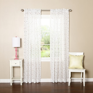 Aurora Home Sheer Multicolor Star Rod Pocket 84-inch Curtain Panel Pair