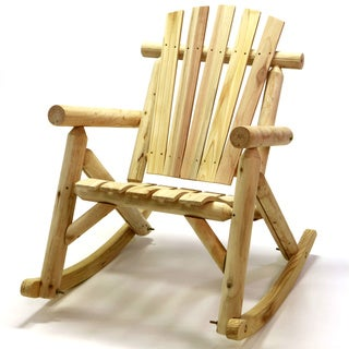 Log Rocking Chair in Natural Finish