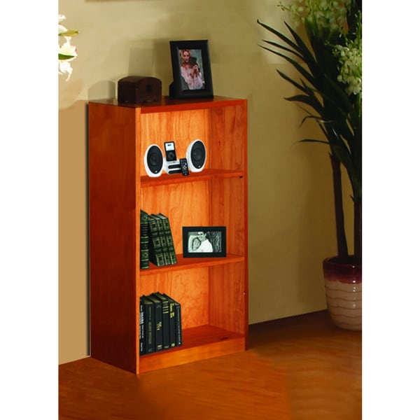 42-inch Honey Pine Bookcase - 42-inch Honey Pine Bookcase - Free Shipping Today - Overstock.com