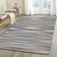 LR Home Natural Fiber Blue Ikat Area Rug (9' x 12' )
