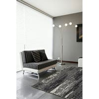 LNR Home Nisha Grey Contemporary Rug - 7'9 x 9'9