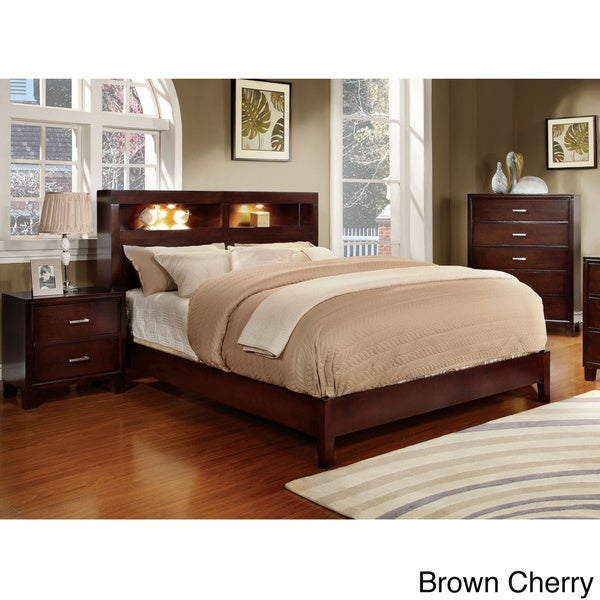 furniture of america clement 3 piece platform bedroom set free