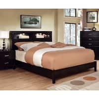 Furniture of America Clement Platform Bed with Lighting