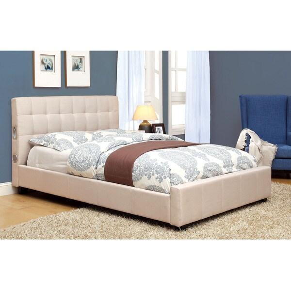 Shop Furniture of America Behati Fabric Upholstered Platform Bed ...