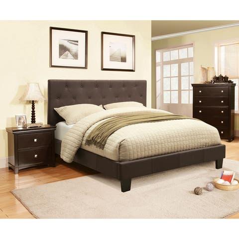 Furniture of America Perc Contemporary Grey 3-piece Bedroom Set
