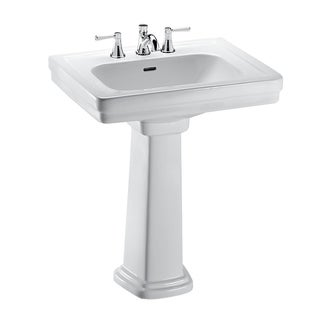 Toto Promenade Pedestal Vitreous China Bathroom Sink LPT532.8N#01 Cotton White