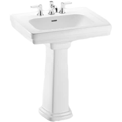 Toto Promenade Pedestal Porcelain Bathroom Sink LPT530N#01 Cotton White