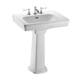Toto Promenade Pedestal Vitreous China Bathroom Sink LPT530.8N#01 Cotton White