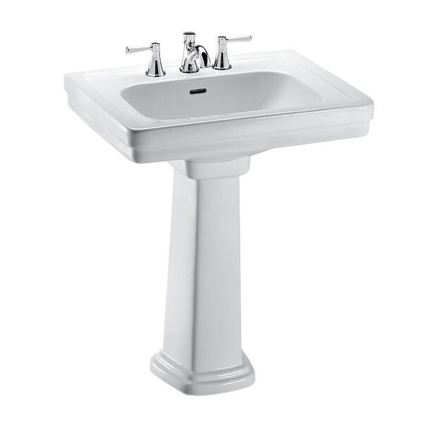 Shop Toto Promenade 24 Quot X 19 1 4 Quot Rectangular Pedestal Bathroom Sink For 4 Inch Center