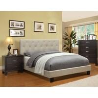 Furniture of America Perdella 4-piece Ivory Low Profile Bedroom Set ...