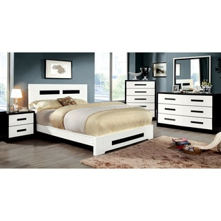 Furniture of America Seleness 4-piece Contemporary Duo-tone Bedroom Set