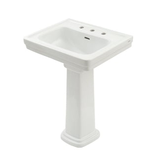 TOTO LPT532N Promenade Lavatory and Pedestal with Single Hole