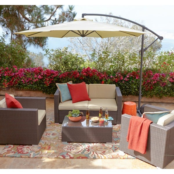 The Hom Cane Garden 5 Piece Patio Set